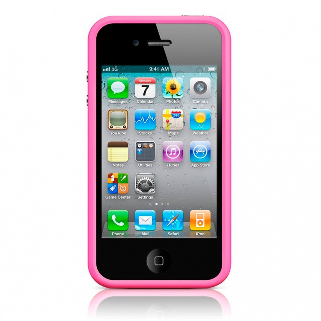 coque bumper hq rose pour apple iphone 4s 4. Black Bedroom Furniture Sets. Home Design Ideas