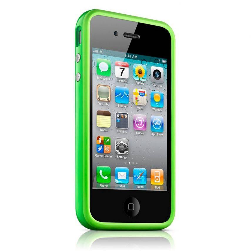 Photo réelle de Coque Bumper HQ Vert Pour iPhone 4S / 4