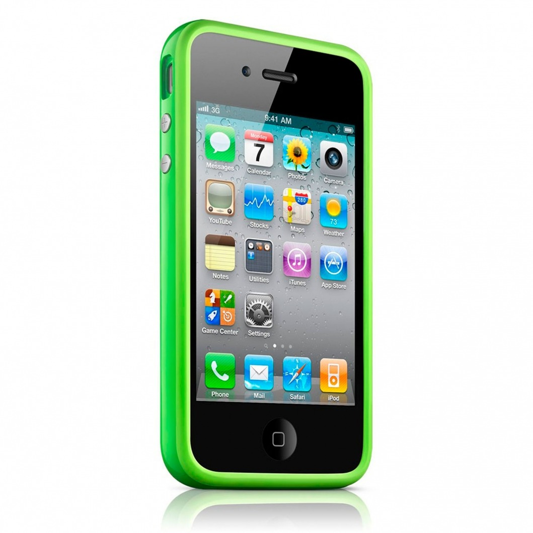 coque bumper hq vert pour apple iphone 4s 4. Black Bedroom Furniture Sets. Home Design Ideas