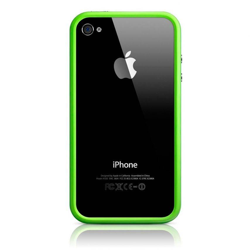 Vue portée de Coque Bumper HQ Vert Pour iPhone 4S / 4