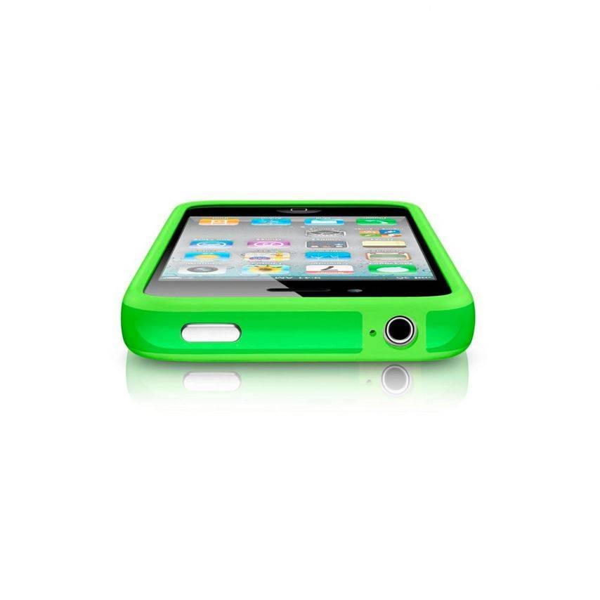 Zoom sur Coque Bumper HQ Vert Pour iPhone 4S / 4