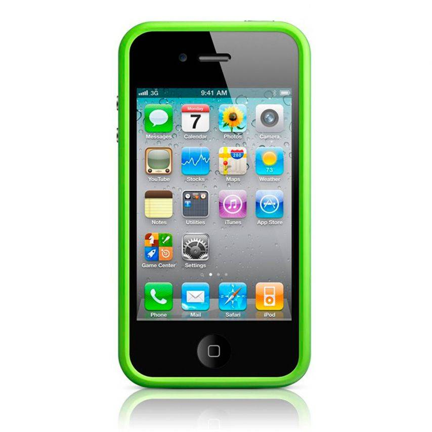 Visuel supplémentaire de Coque Bumper HQ Vert Pour iPhone 4S / 4