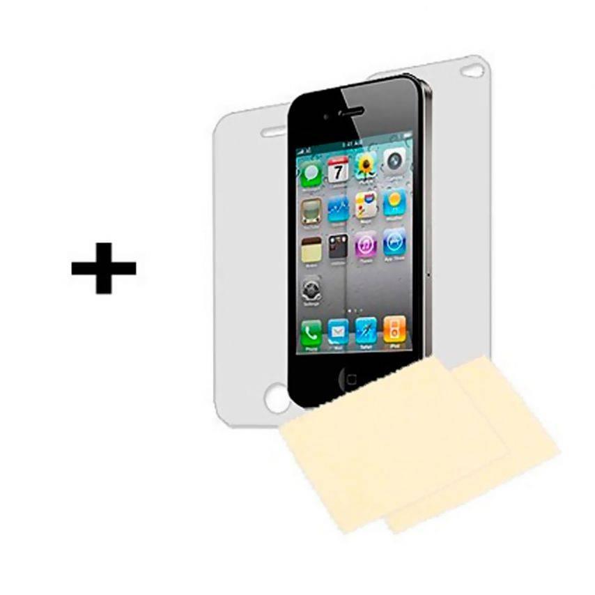 Vue complémentaire de Coque Bumper HQ Vert Pour iPhone 4S / 4