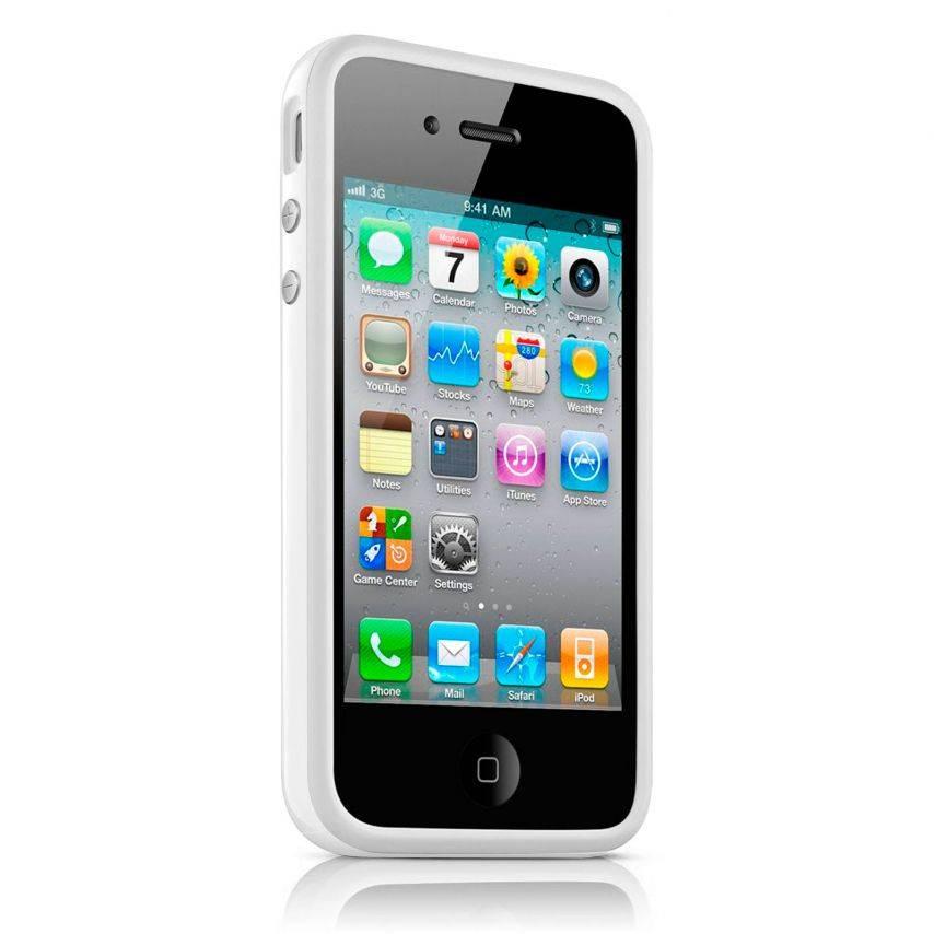 Vue complémentaire de Coque Bumper HQ Blanc Pour iPhone 4S / 4