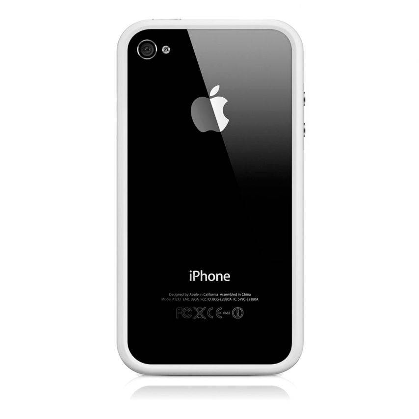 Photo réelle de Coque Bumper HQ Blanc Pour iPhone 4S / 4