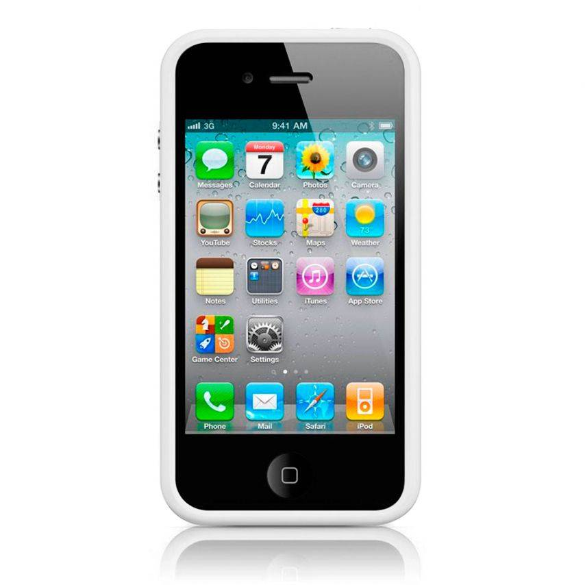 Visuel unique de Coque Bumper HQ Blanc Pour iPhone 4S / 4