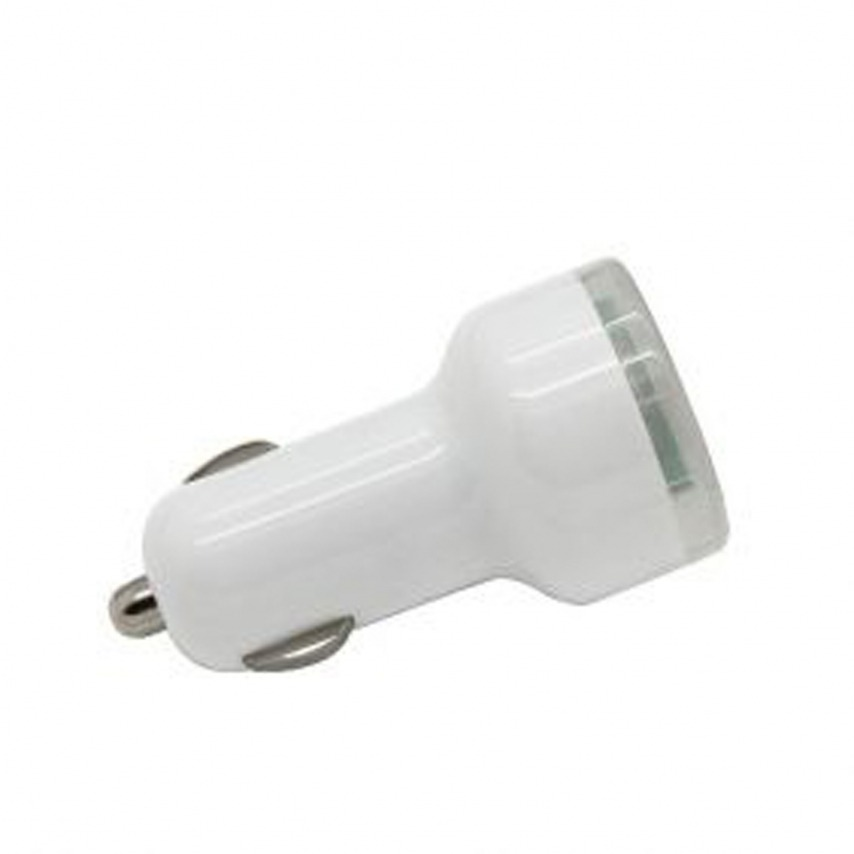 Visuel supplémentaire de Micro chargeur voiture / Allume cigare Double USB 2100mA iPad iPhone Blanc