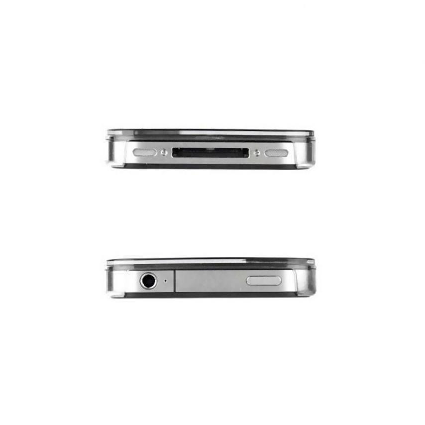 Vue complémentaire de Coque Luxe Strass & Paillettes Noire iPhone 4S / 4
