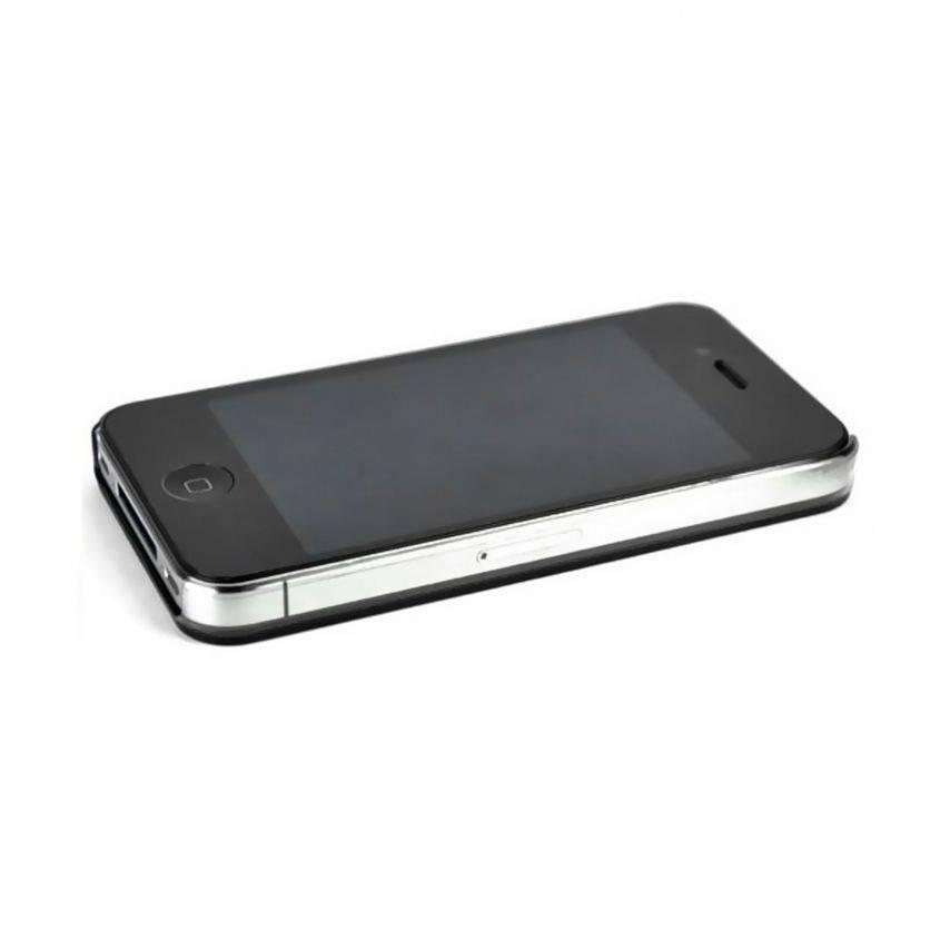 Vue portée de Coque Luxe Strass & Paillettes Noire iPhone 4S / 4