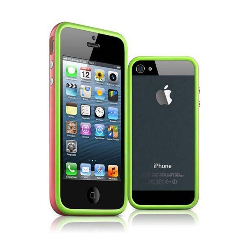 Coque Bumper iPhone 5 / 5S / SE HQ Vert / Rose