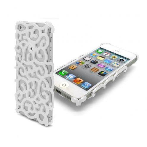Coque iPhone 5 Rococo Design Blanche