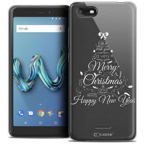 """Coque Crystal Gel Wiko Tommy 3 (5.45"""") Extra Fine Noël 2017 - Calligraphie"""