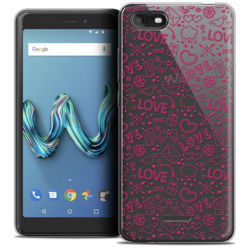 """Coque Crystal Gel Wiko Tommy 3 (5.45"""") Extra Fine Love - Doodle"""