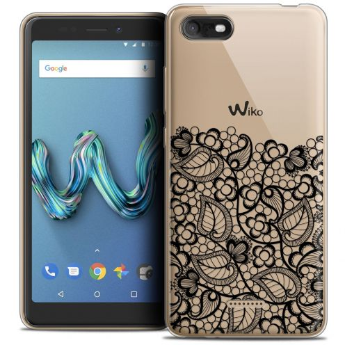 """Coque Crystal Gel Wiko Tommy 3 (5.45"""") Extra Fine Spring - Bas dentelle Noir"""
