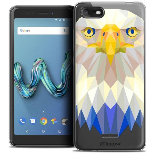 """Coque Crystal Gel Wiko Tommy 3 (5.45"""") Extra Fine Polygon Animals - Aigle"""