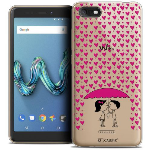 "Coque Crystal Gel Wiko Tommy 3 (5.45"") Extra Fine Love - Pluie d'Amour"