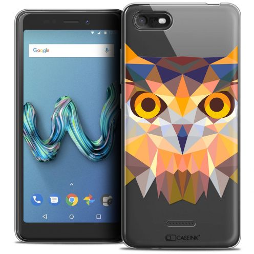"""Coque Crystal Gel Wiko Tommy 3 (5.45"""") Extra Fine Polygon Animals - Hibou"""