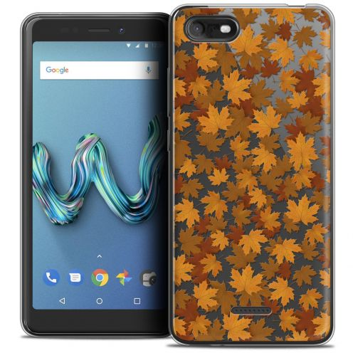 """Coque Crystal Gel Wiko Tommy 3 (5.45"""") Extra Fine Autumn 16 - Feuilles"""