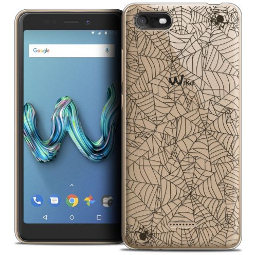 """Coque Crystal Gel Wiko Tommy 3 (5.45"""") Extra Fine Halloween - Spooky Spider"""