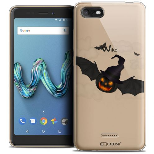 """Coque Crystal Gel Wiko Tommy 3 (5.45"""") Extra Fine Halloween - Chauve Citrouille"""