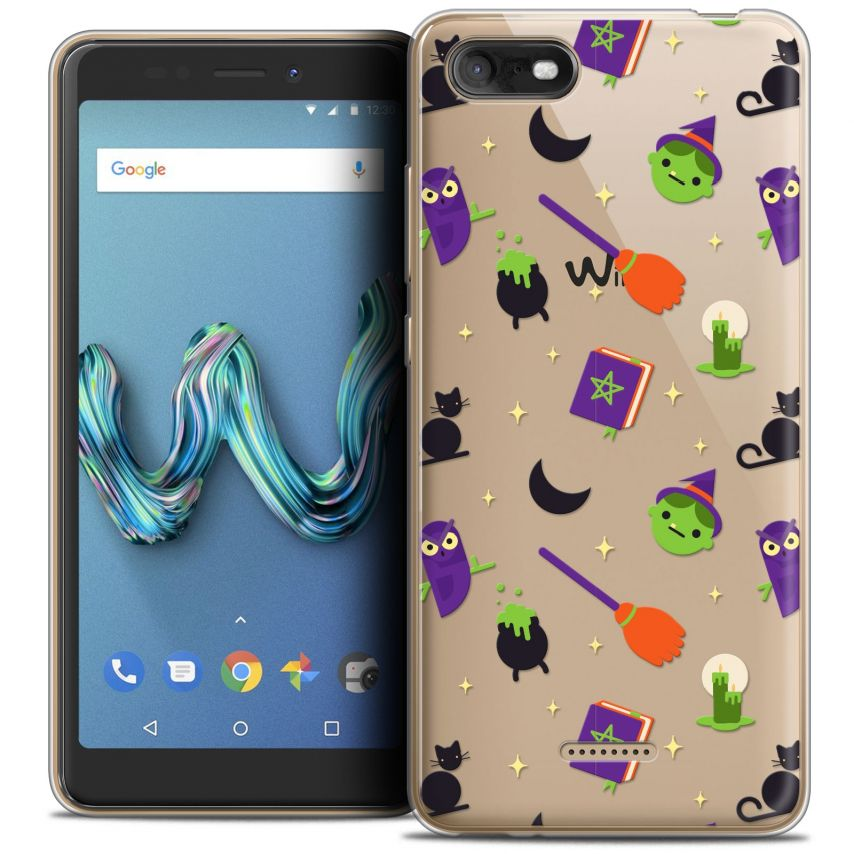 """Coque Crystal Gel Wiko Tommy 3 (5.45"""") Extra Fine Halloween - Witch Potter"""