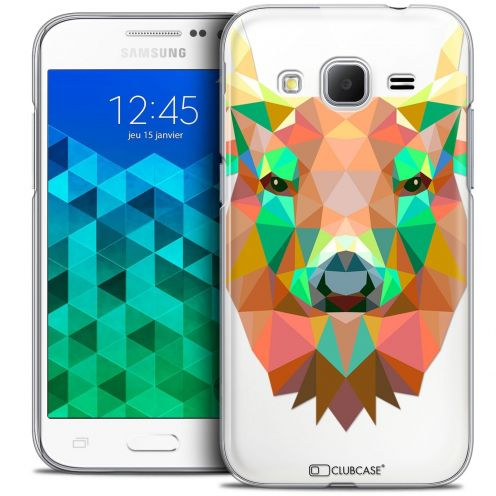 Coque Crystal Samsung Galaxy Core Prime (G360) Extra Fine Polygon Animals - Cerf