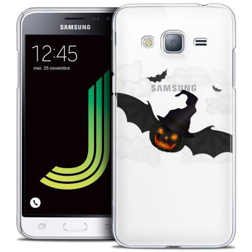 Coque Crystal Samsung Galaxy J3 2016 (J320) Extra Fine Halloween - Chauve Citrouille