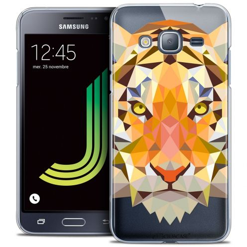 Coque Crystal Samsung Galaxy J3 2016 (J320) Extra Fine Polygon Animals - Tigre