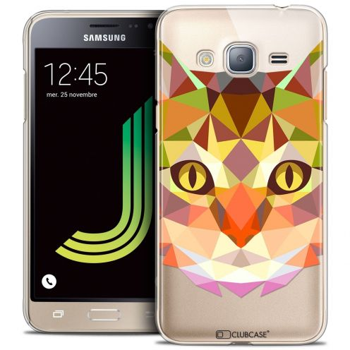 Coque Crystal Samsung Galaxy J3 2016 (J320) Extra Fine Polygon Animals - Chat