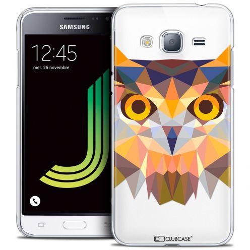 Coque Crystal Samsung Galaxy J3 2016 (J320) Extra Fine Polygon Animals - Hibou