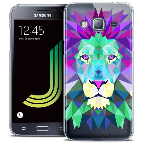 Coque Crystal Samsung Galaxy J3 2016 (J320) Extra Fine Polygon Animals - Lion