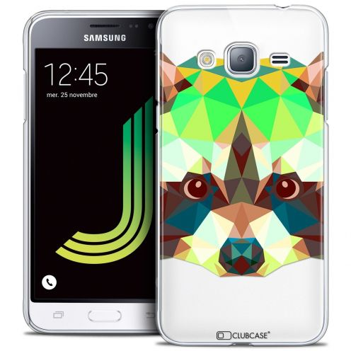 Coque Crystal Samsung Galaxy J3 2016 (J320) Extra Fine Polygon Animals - Raton Laveur