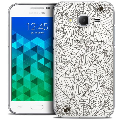 Coque Crystal Samsung Galaxy Core Prime (G360) Extra Fine Halloween - Spooky Spider