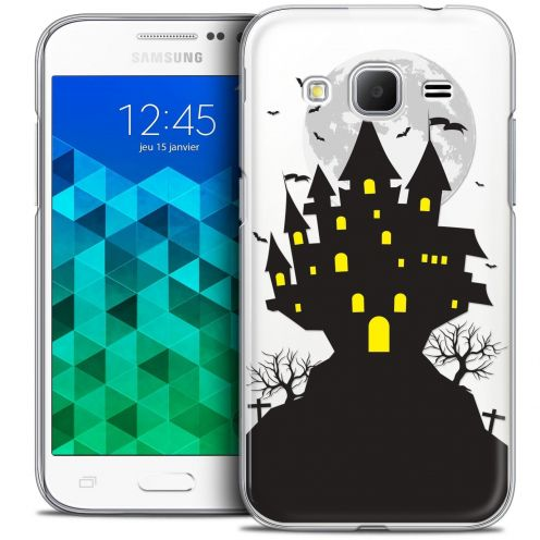 Coque Crystal Samsung Galaxy Core Prime (G360) Extra Fine Halloween - Castle Scream
