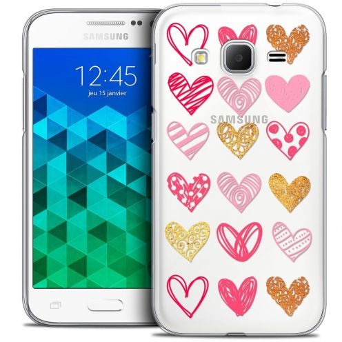 Coque Crystal Samsung Galaxy Core Prime (G360) Extra Fine Sweetie - Doodling Hearts