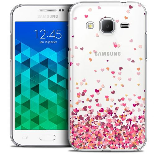 Coque Crystal Samsung Galaxy Core Prime (G360) Extra Fine Sweetie - Heart Flakes