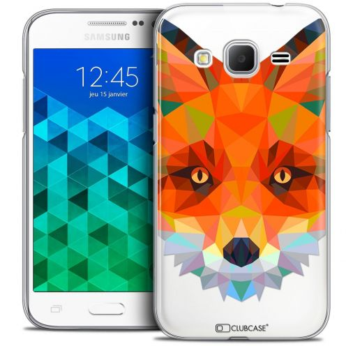 Coque Crystal Samsung Galaxy Core Prime (G360) Extra Fine Polygon Animals - Renard