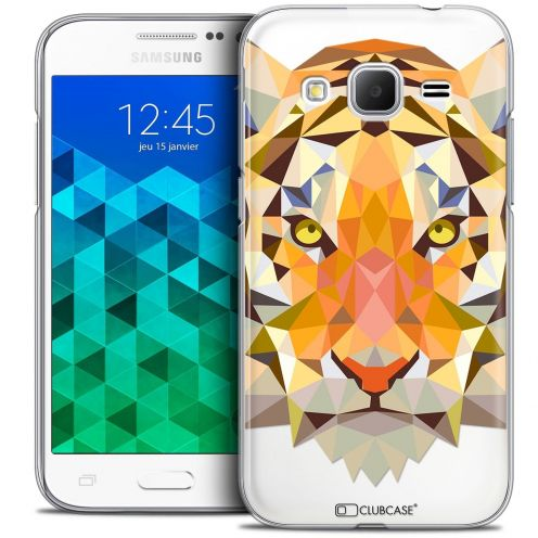 Coque Crystal Samsung Galaxy Core Prime (G360) Extra Fine Polygon Animals - Tigre