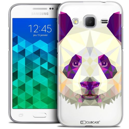Coque Crystal Samsung Galaxy Core Prime (G360) Extra Fine Polygon Animals - Panda