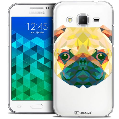 Coque Crystal Samsung Galaxy Core Prime (G360) Extra Fine Polygon Animals - Chien