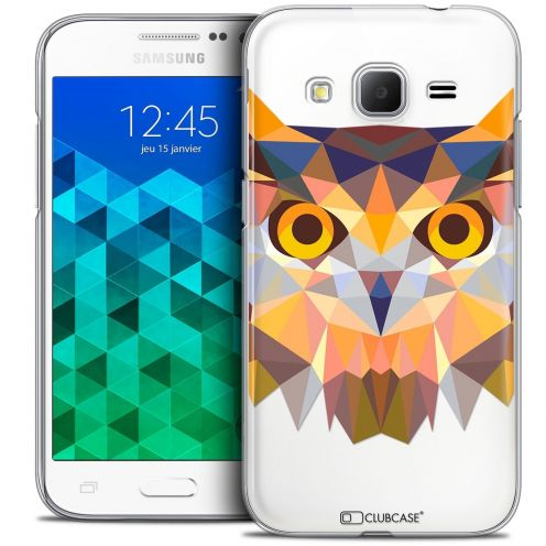 Coque Crystal Samsung Galaxy Core Prime (G360) Extra Fine Polygon Animals - Hibou