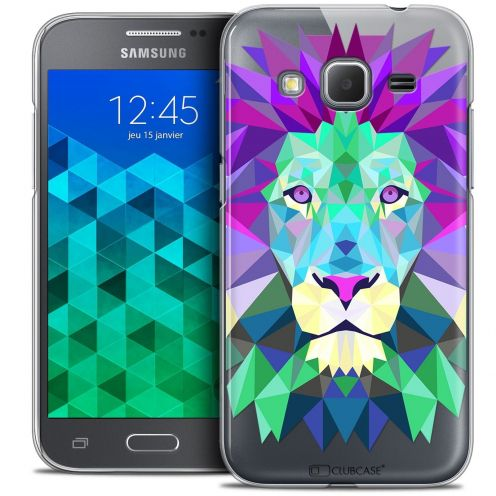 Coque Crystal Samsung Galaxy Core Prime (G360) Extra Fine Polygon Animals - Lion