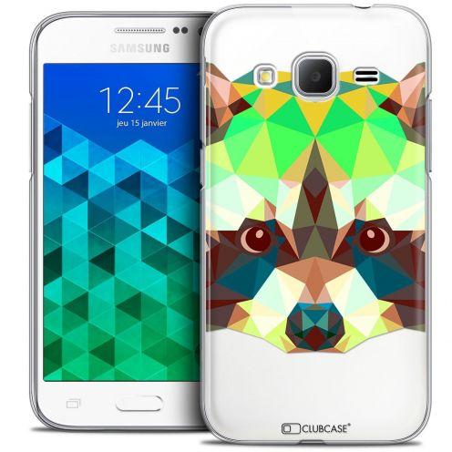 Coque Crystal Samsung Galaxy Core Prime (G360) Extra Fine Polygon Animals - Raton Laveur