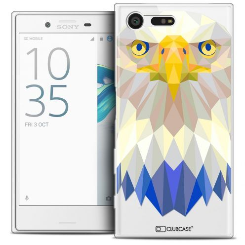 Coque Crystal Gel Sony Xperia X Compact/Mini Extra Fine Polygon Animals - Aigle