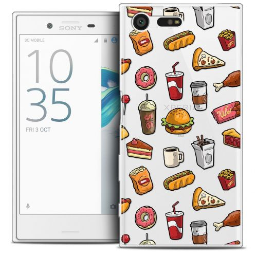Coque Crystal Gel Sony Xperia X Compact/Mini Extra Fine Foodie - Fast Food