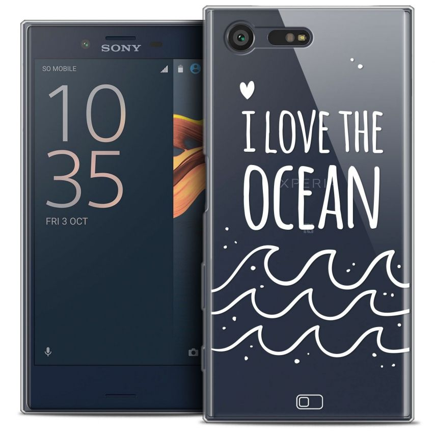 Coque Crystal Gel Sony Xperia X Compact/Mini Extra Fine Summer - I Love Ocean
