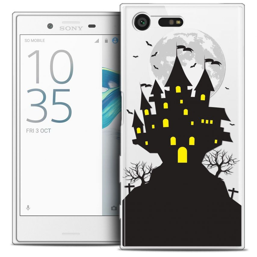 Coque Crystal Gel Sony Xperia X Compact/Mini Extra Fine Halloween - Castle Scream