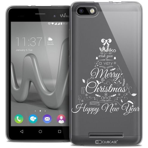 Coque Crystal Gel Wiko Lenny 3 Extra Fine Noël 2016 - Calligraphie
