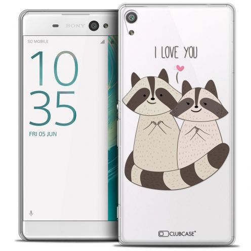 "Coque Crystal Sony Xperia XA 5"" Extra Fine Sweetie - Racoon Love"