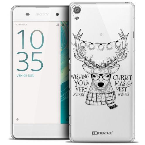 "Coque Crystal Sony Xperia XA 5"" Extra Fine Noël 2016 - Cerf Hipster"